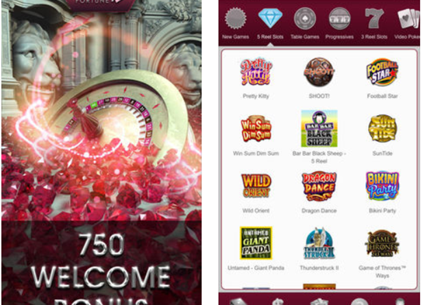 Ruby Fortune Casino Apps